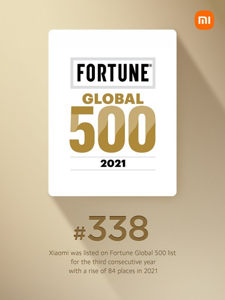 Xiaomi avanseaza pe locul 338 in topul Fortune Global 500, devenind compania cu cel mai rapid avans la categoria Internet si Retail in 2021